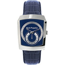 Hush Puppies Men's Stainless Steel Blue Leather Strap Watch