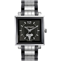 Hush Puppies Men's Square Black Dial Watch