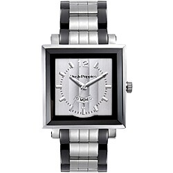 Hush Puppies Men's Square Silvertone Dial Watch
