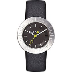 Hush Puppies Women's Black Dial Leather Strap Watch