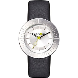Hush Puppies Women's Silvertone Dial Leather Strap Watch