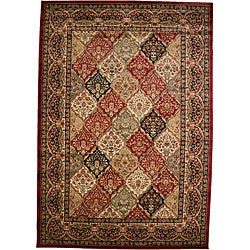 Panel Kerman Claret Red Area Rug - Thumbnail 0