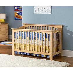 Shop Mission Hardwood Natural Maple Convertible Crib