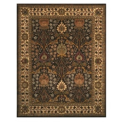 EORC Hand-tufted Wool Brown Morris Rug (4' x 6')