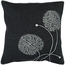 Decorative Square Helm Medium Grey Duotone Down Pillow