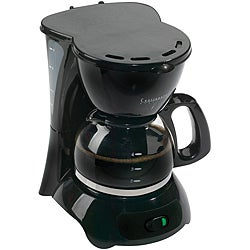 Continental Electric 4-Cup Black Coffee Maker