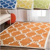 Havenside Home Ponte Vedra Handmade Trellis Wool Area Rug (7'6 x 9'6)