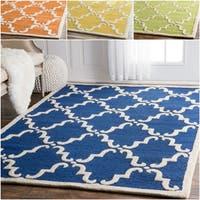Havenside Home Ponte Vedra Handmade Trellis Wool Area Rug (5' x 8')