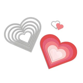 Sizzix Framelits Heart Die Cuts Package of 6