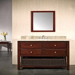 OVE Decors Dakota 42 Inch Single Sink Bathroom Vanity With Granite Top