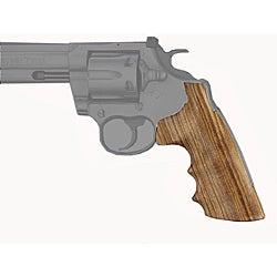 Hogue Colt King Cobra and Anaconda V-Frame Goncolo Alves Wood Grip - Thumbnail 0