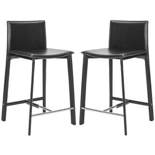 safavieh 246inch madison ave black counter stool set of 2