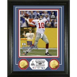 Eli Manning Super Bowl XLVI MVP 24k Gold Coin Photo Mint