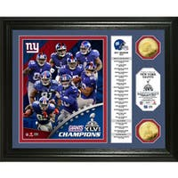 New York Giants Super Bowl XLVI Champions 24k Gold Coin Banner Photo Mint