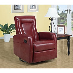 Red Bonded Leather Recliner