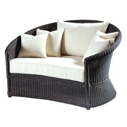 Outdoor Haven Wicker Espresso Over-sized Lounge Chair