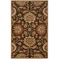 Hand-tufted Wool Chocolate Waltzer Rug (7'6 x 9'6)