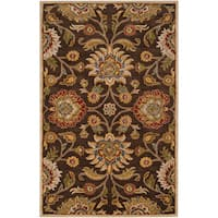 Hand-tufted Wool Chocolate Waltzer Area Rug (7'6 x 9'6)