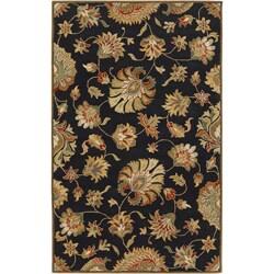 Hand-tufted Black Hippa Wool Area Rug (9' x 12') - Thumbnail 0