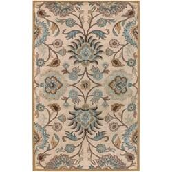Hand-tufted Beige Cammus Wool Rug (2' x 3')