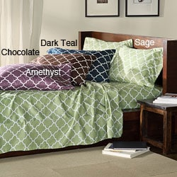 Charleston Full/ Twin-size Dark Microfiber Sheet Set - Thumbnail 0