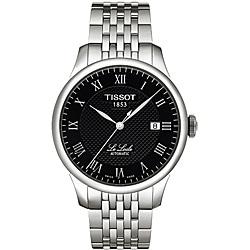 Thumbnail 1, Tissot Men's 'Le Locle' Textured Black Dial Watch.