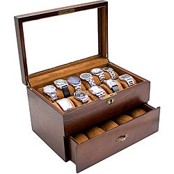 Wooden Glass Top Watch Case