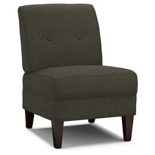 Handy Living Engle Basil Green Linen Armless Chair