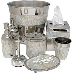 Mother of Pearl Bath Accessory 8-piece Set - Thumbnail 0