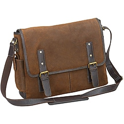 The Irwin Oil-Rubbed Flap-Over 15.6-Inch Leather Laptop Messenger Bag