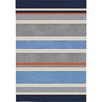 Havenside Home Taft Handmade Grey Stripe Area Rug - 6' x 9'