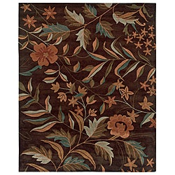 Hand-Tufted Hesiod Brown Area Rug - 9' x 12' - Thumbnail 0