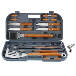 Mr. BBQ 20-piece Stainless Steel Grill Tool Set with Magnetic Light