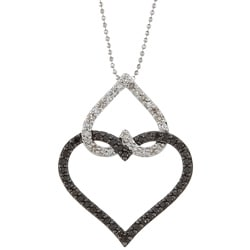 Victoria Kay 14k Gold 5/8ct TDW Black and White Diamond Heart Necklace (J-K, I2-I3)