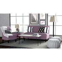 Porch & Den Highland Shoshone Amethyst Purple Linen 3-piece Sofa Set