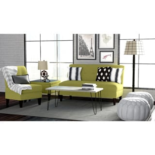 Handy Living Engle Apple Green Linen 3-piece Sofa Set
