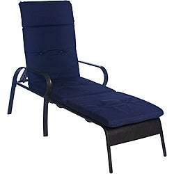 Ali Patio Outdoor Tufted Navy Blue Chaise Lounge Cushion Free Shipping Toda