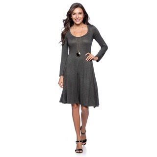 24/7 Comfort Apparel Women's Long-sleeve Dress-Plus Sizes Available (3 options available)