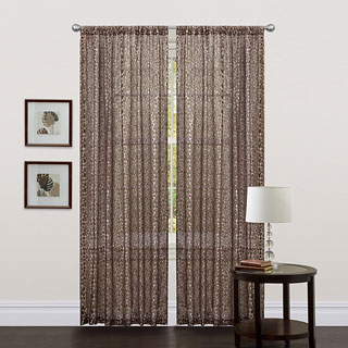 Lush Decor Brown 84-inch Leopard Curtain Panel