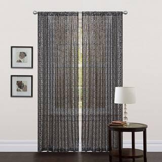 Lush Decor Black 84-inch Leopard Curtain Panel|https://ak1.ostkcdn.com/images/products/P14120082a.jpg?impolicy=medium