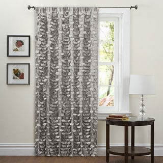 Lush Decor Grey 84-inch Lilian Curtain Panel