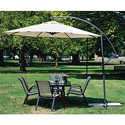 Coolaroo 10' Cantilever Umbrella Smoke