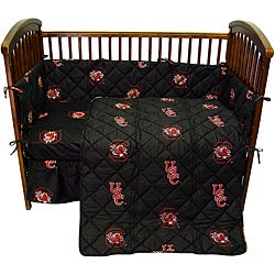 South Carolina University Gamecocks 5-piece Crib Bedding Set