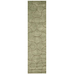 Hand Tufted Santana Abstract Wool Rug (2'6 x 10')