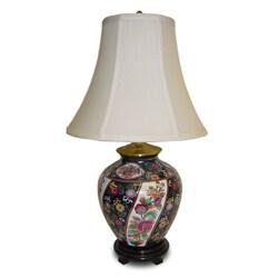 Limogesque Ginger Jar Porcelain Table Lamp - 8' x 10'