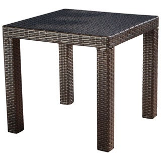 RST Brands Espresso Rattan Patio Side Table