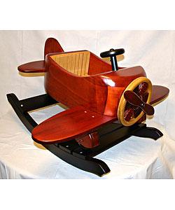 Thumbnail 1, Premium Wood Airplane Rocking Chair.