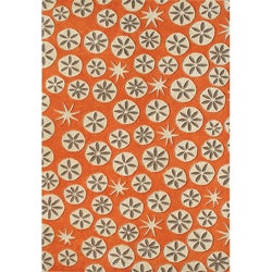 Alliyah Handmade Coral Rose New Zealand Blend Wool Rug (8'x10')
