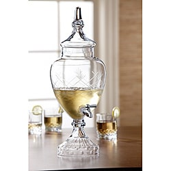 Fifth Avenue Hand-Cut Crystal Beverage Dispenser