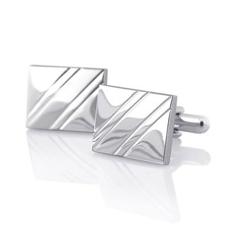Rhodium-plated Cuff Links and/or Cardholder (All Silvertone) (4 options available)